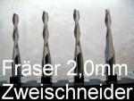 Bild zum Artikel: VHM-Fräser 2,0mm, Zweischneider
